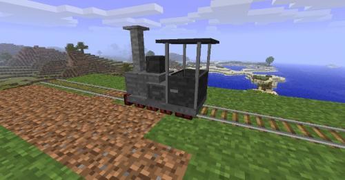 поезд в Minecraft