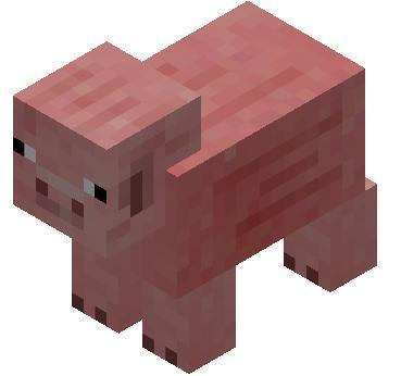 Свинья в Minekraft